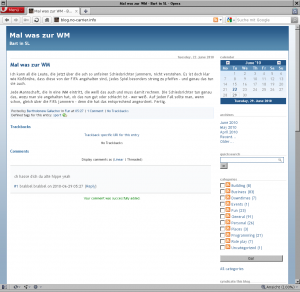 Der Blog in 2010
