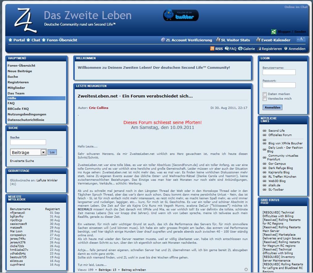 Die offizielle Ankündigung: ZL schließt seine Pforten.